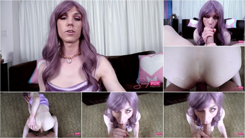 Lilith Gray - Sissy Cutie Tackles A Big Dick [HD 720p]