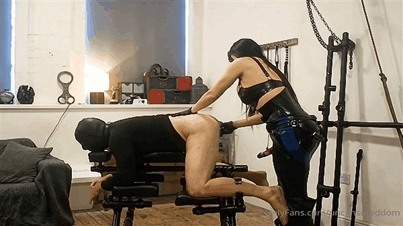 Obey Angelina - New pegging clip - Hard with leash [HD 720P]