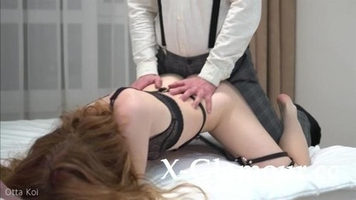 Otta Koi - Pussy Eating And Hot Fuck With Beautiful Redhead Babe In Sexy Black Lingerie Loud Moans - Otta Koi (HD)