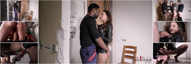 Julie Skyhigh - Julie caught by her husband with the Electrician Guy (HD)