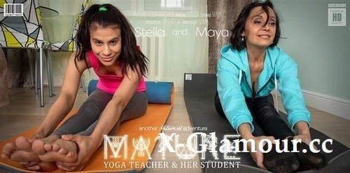 Malya 23, Stella 51 - Mature Yoga Teacher Has A Special Lesson For Her Lesbian Student (2020/FullHD)