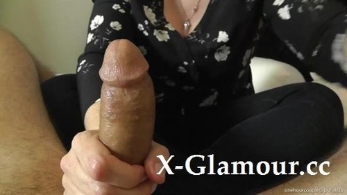 """Onehourcouple in """"Cfnm! Dressed Wife Gives Handjob And Prostate Massage To Hubby! Epic Orgasm!!"""" [HD]"""