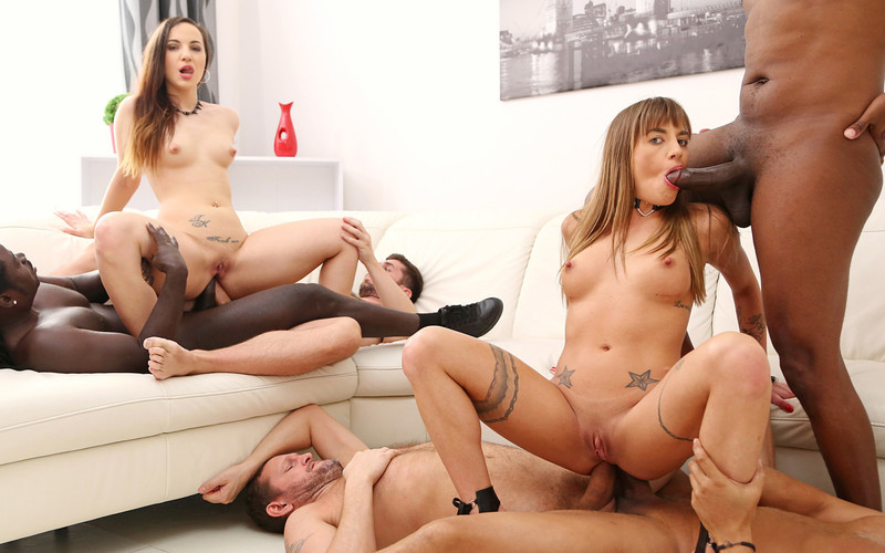 Silvia Dellai, Kristy Black - Fisting Each Other Before Hot DAP Fucking [HD 720P]