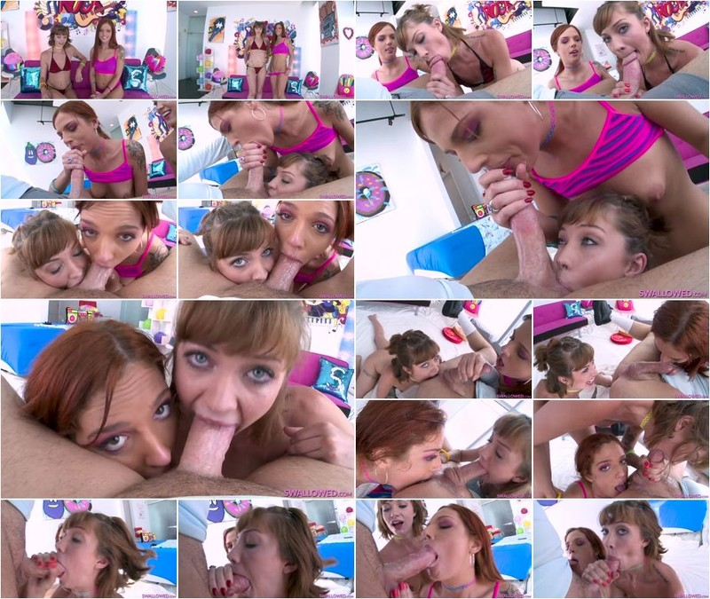 Leah Winters, Scarlett Mae - Spitshine Service with Scarlett and Leah (1080p)