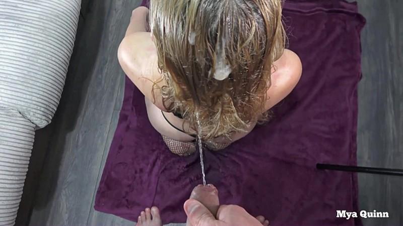 Mya Quinn - facefuck fetish hairjob cum pee on hair [FullHD 1080P]