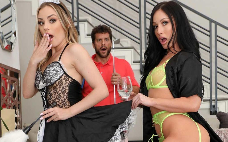 Anna Claire Clouds, Jennifer White - Hot Wife Cannot Help Herself Around Petite Maid [FullHD 1080P]